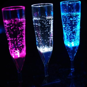 LED champagneglass 4 stk