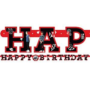 "One Direction ""Happy Birthday"" banner"